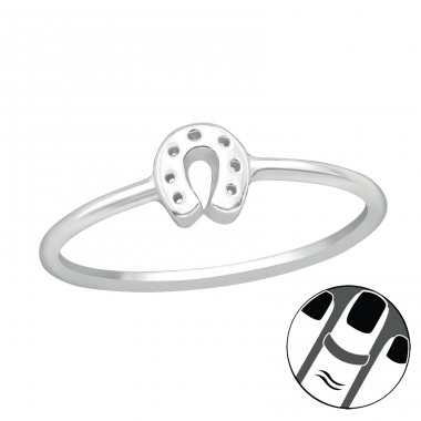 Horseshoe - 925 Sterling Silver Midi Rings A4S20727