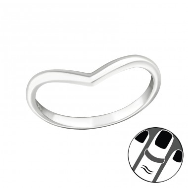 Heart - 925 Sterling Silver Midi Rings A4S20729