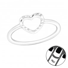 Heart - 925 Sterling Silver Midi Rings A4S20987