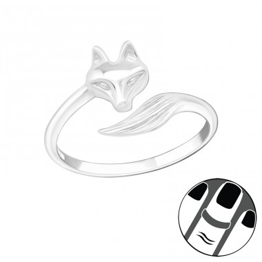 Fox - 925 Sterling Silver Midi Rings A4S20988