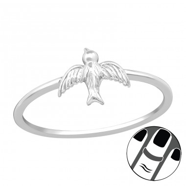Bird - 925 Sterling Silver Midi Rings A4S21694