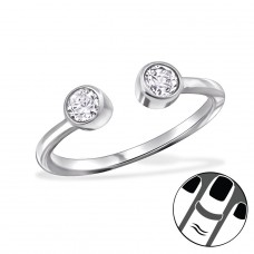 Open - 925 Sterling Silver Midi Rings A4S29225