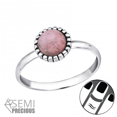 Round - 925 Sterling Silver Midi Rings A4S30310