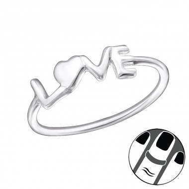 Love - 925 Sterling Silver Midi Rings A4S30966