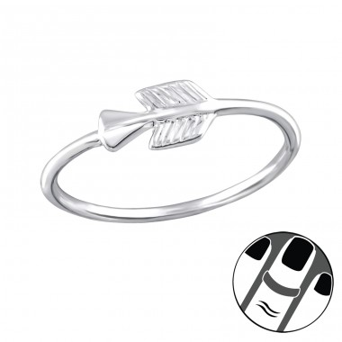 Arrow - 925 Sterling Silver Midi Rings A4S32999