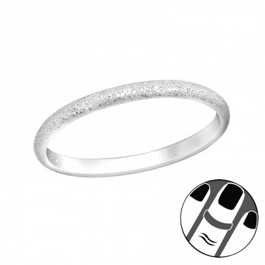 Band - 925 Sterling Silver Midi Rings A4S37409