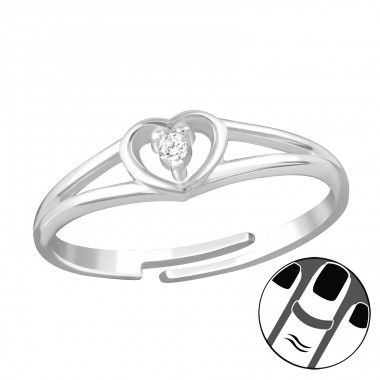 Heart - 925 Sterling Silver Midi Rings A4S38560