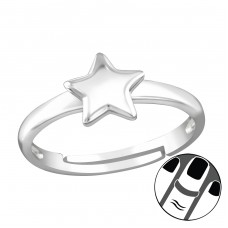 Star - 925 Sterling Silver Midi Rings A4S38561