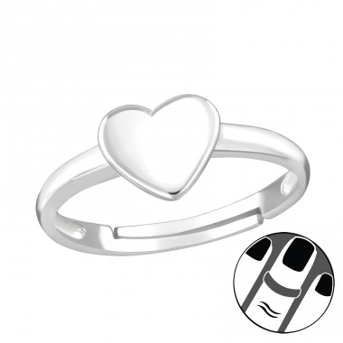 Heart - 925 Sterling Silver Midi Rings A4S38562