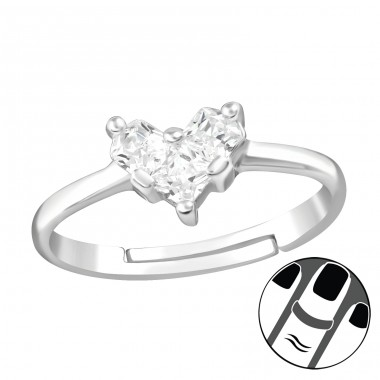 Heart - 925 Sterling Silver Midi Rings A4S38563