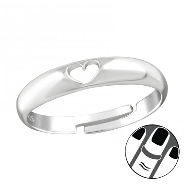 Heart - 925 Sterling Silver Midi Rings A4S38564