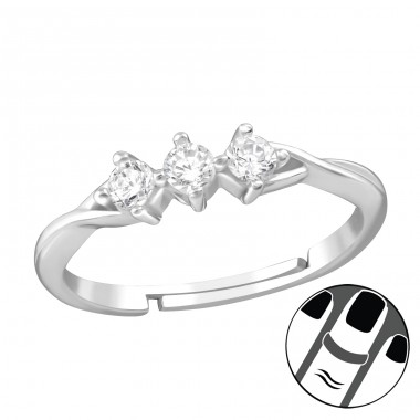 Sparkling - 925 Sterling Silver Midi Rings A4S38565