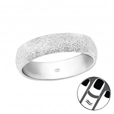 6mm Diamond Dust - 925 Sterling Silver Midi Rings A4S38869