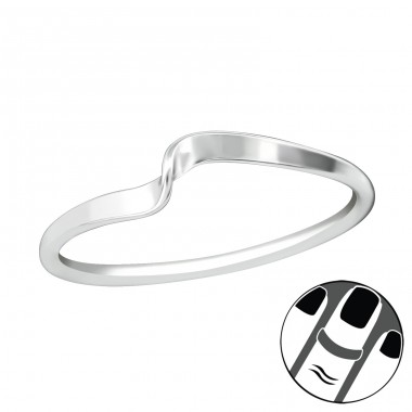 Twist - 925 Sterling Silver Midi Rings A4S38985