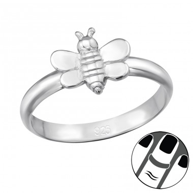 Bee - 925 Sterling Silver Midi Rings A4S39830
