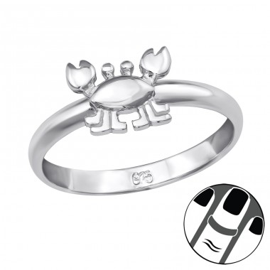 Crab - 925 Sterling Silver Midi Rings A4S39832