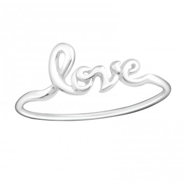 Love Lettering - 925 Sterling Silver Basic Rings A4S15383