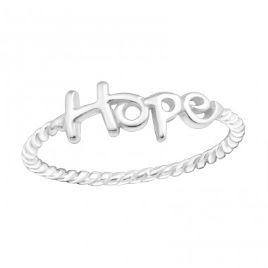 Hope Lettering - 925 Sterling Silver Basic Rings A4S15714