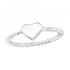 Heart - 925 Sterling Silver Basic Rings A4S16888
