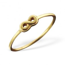 3D Infinity - 925 Sterling Silver Basic Rings A4S18902