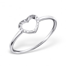 Heart - 925 Sterling Silver Basic Rings A4S20513