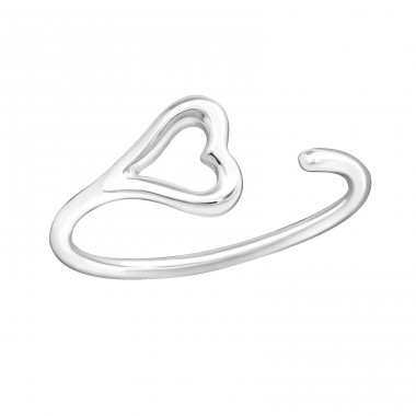 Heart - 925 Sterling Silver Basic Rings A4S20664