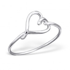 Heart - 925 Sterling Silver Basic Rings A4S20770