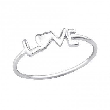 Love - 925 Sterling Silver Basic Rings A4S20774