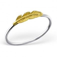 Feather - 925 Sterling Silver Basic Rings A4S23483