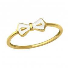 White Ribbon - 925 Sterling Silver Basic Rings A4S23485