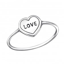 Love Heart - 925 Sterling Silver Basic Rings A4S23777