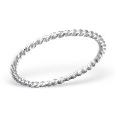 Twisted - 925 Sterling Silver Basic Rings A4S24324