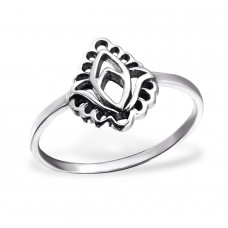 Leaf - 925 Sterling Silver Basic Rings A4S24599