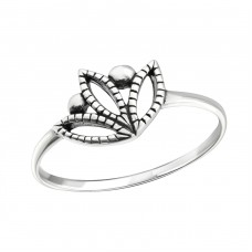 Tulip - 925 Sterling Silver Basic Rings A4S24605