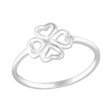 Lucky Clover - 925 Sterling Silver Basic Rings A4S26174