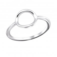 Oval - 925 Sterling Silver Basic Rings A4S29252