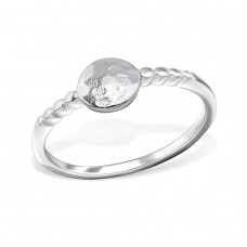 Faceted - 925 Sterling Silver Basic Rings A4S29258