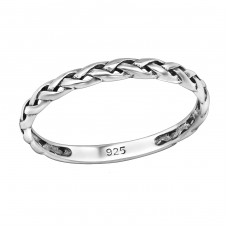 Braided - 925 Sterling Silver Basic Rings A4S30344