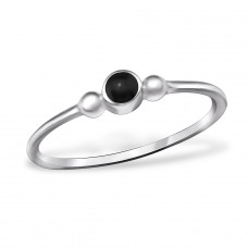 Round - 925 Sterling Silver Basic Rings A4S30348
