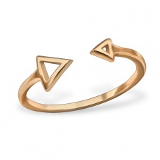 Open Triangle - 925 Sterling Silver Basic Rings A4S30374