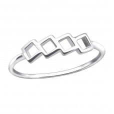 Geometric - 925 Sterling Silver Basic Rings A4S30399