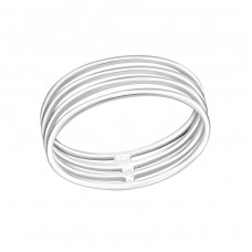 Stackable - 925 Sterling Silver Basic Rings A4S30510