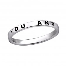 You And Me Bff - 925 Sterling Silver Basic Rings A4S30634