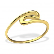Wave - 925 Sterling Silver Basic Rings A4S30639