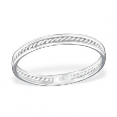 Twisted - 925 Sterling Silver Basic Rings A4S30997