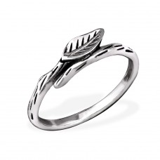 Leaf - 925 Sterling Silver Basic Rings A4S31758