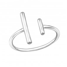Double Bar - 925 Sterling Silver Basic Rings A4S32278
