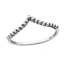 Geometric - 925 Sterling Silver Basic Rings A4S32301
