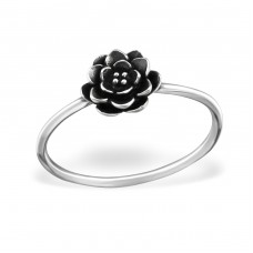 Flower - 925 Sterling Silver Basic Rings A4S32302