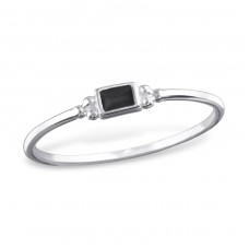 Square - 925 Sterling Silver Basic Rings A4S32466
